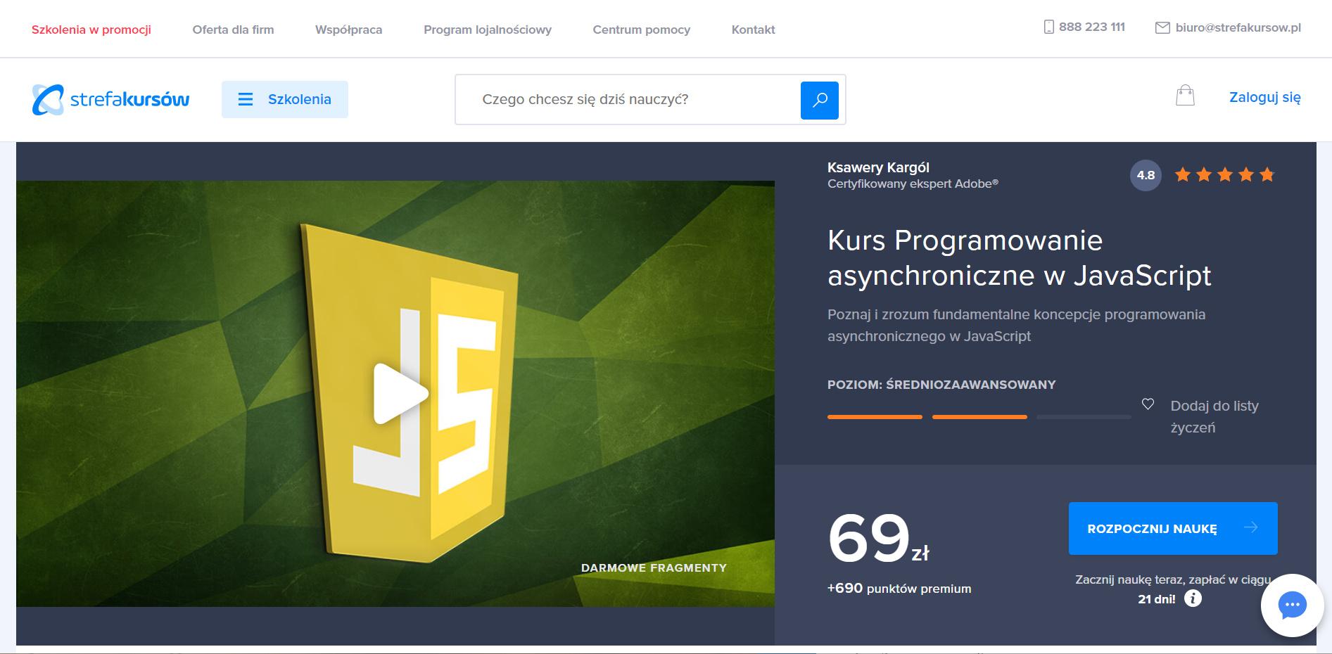Strefa Kursów - JavaScript programowanie asynchroniczne